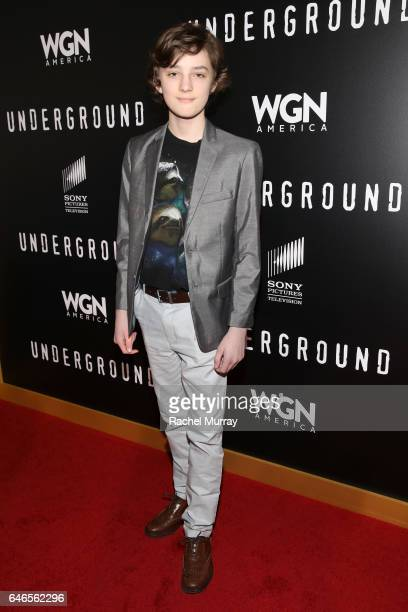 Actor Toby Nichols attends WGN America's Underground Season Two Premiere Screening at Regency Village Theatre on March 1 2017 in Westwood California