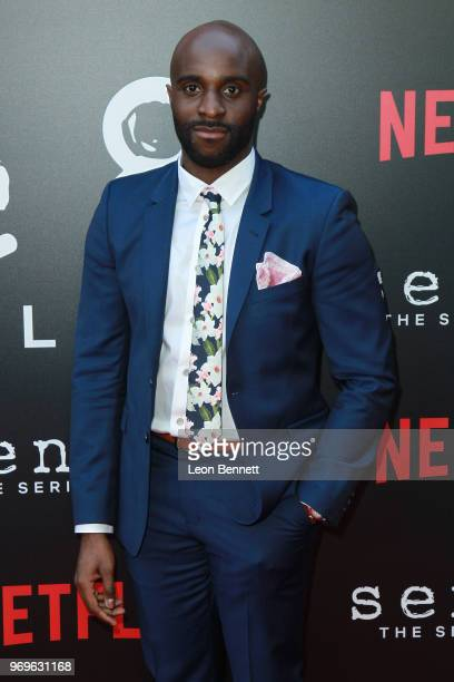 Actor Toby Onwumere attends Netflix's Sense8 Series Finale Event at ArcLight Hollywood on June 7 2018 in Hollywood California