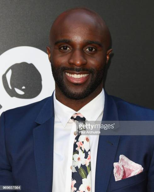Actor Toby Onwumere attends Netflix's Sense8 series finale event at the ArcLight Hollywood on June 7 2018 in Hollywood California