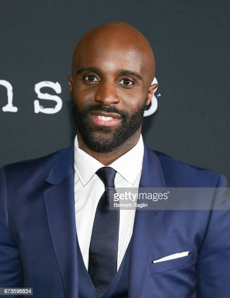 Actor Toby Onwumere attends the 'Sense8' New York premiere at AMC Lincoln Square Theater on April 26 2017 in New York City