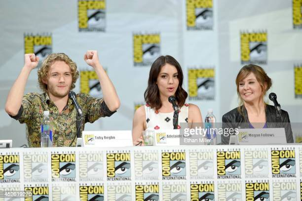 Actor Toby Regbo and actresses Adelaide Kane and Megan Follows attend The CW's Reign exclusive premiere screening and panel during ComicCon...