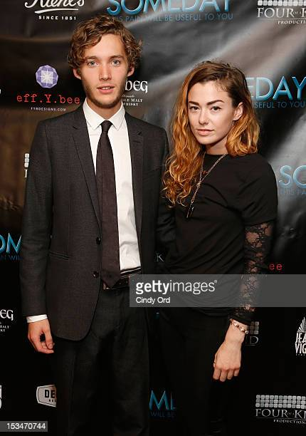 Actor Toby Regbo and Lyndsey Critchley attend the 'Someday This Pain Will Be Useful To You' New York Screening at Village East Cinema on October 5...