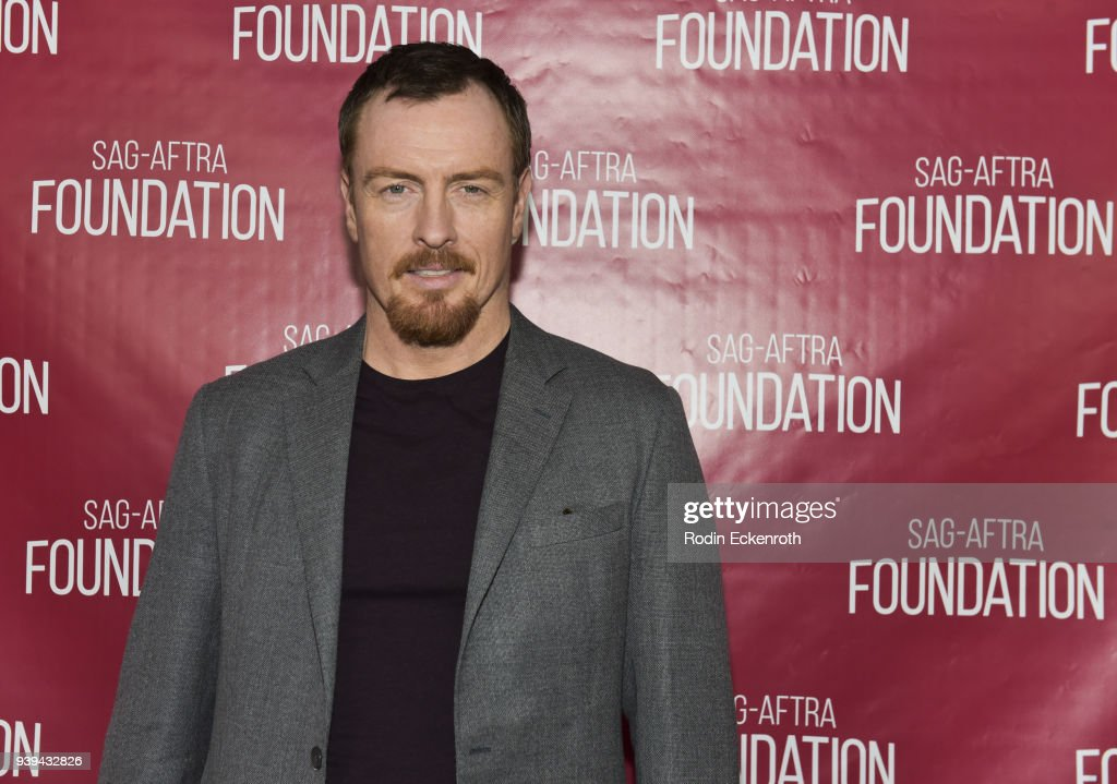 Actor Toby Stephens poses for portrait at SAG-AFTRA Foundation Conversations screening of 'Lost In Space' at SAG-AFTRA Foundation Screening Room on March 28, 2018 in Los Angeles, California.