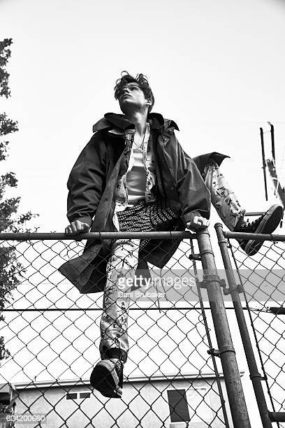 Actor Toby Wallace is photographed for Boys By Girls Magazine on December 7 2015 in Los Angeles California