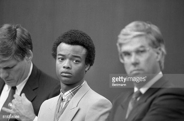 Actor Todd Bridges of the recently cancelled 'Different Strokes' television seris listens during his sentencing at San Fernando court pleaded no...