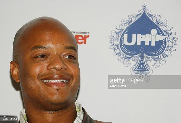 Actor Todd Bridges poses for photographers at the Urban Health Institutes second annual celebrity poker championship held at the Playboy Mansion on...