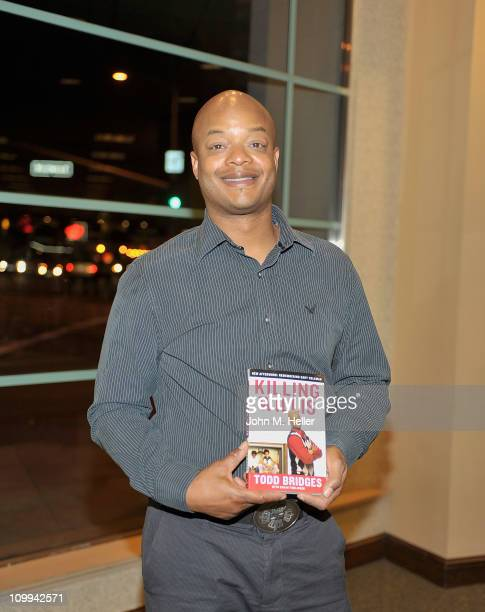 Actor Todd Bridges signs copies of his new book Killing Willis at Barnes Noble on March 10 2011 in Westwood California
