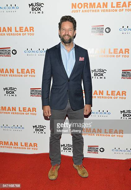"""Actor Todd Grinnell attends the premiere of Music Box Films' """"Norman Lear: Just Another Version Of You"""" at The WGA Theater on July 14, 2016 in..."""