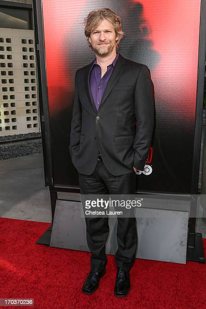 """Actor Todd Lowe arrives at HBO's """"True Blood"""" season 6 premiere at ArcLight Cinemas Cinerama Dome on June 11, 2013 in Hollywood, California."""
