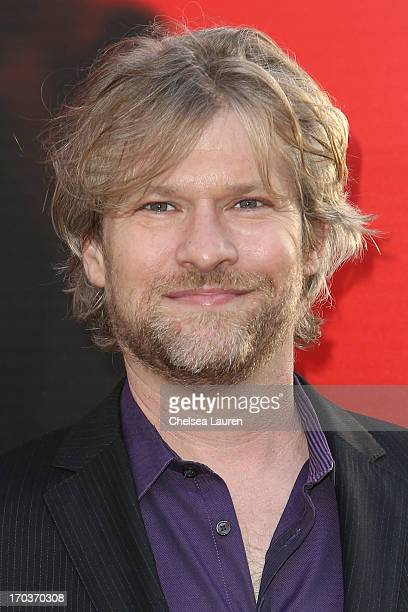 Actor Todd Lowe arrives at HBO's True Blood season 6 premiere at ArcLight Cinemas Cinerama Dome on June 11 2013 in Hollywood California