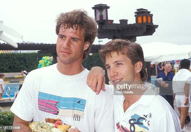 Actor Todd McKee and actor Rob Stone attend the Third Annual Make-A-Wish Celebrity Sports Fesitval on May 9, 1987 at La Casa De Vida in Torrance,...