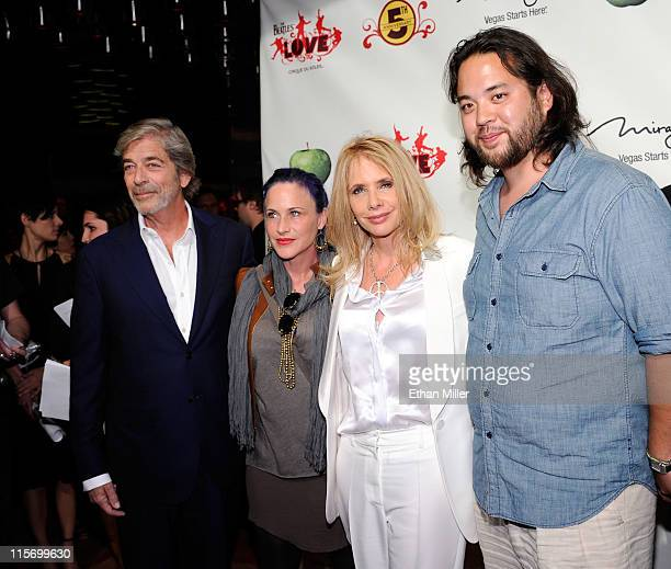Actor Todd Morgan actresses Patricia Arquette and Rosanna Arquette and owner of Mr Chow restaurant Maximillian Chow attend the fifth anniversary...