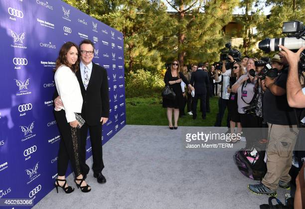 Actor Tom Arnold and Ashley Groussman arrive at the 13th Annual Chrysalis Butterfly Ball in Los Angeles on June 7th 2014