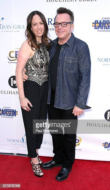 Actor Tom Arnold and his wife producer Ashley Groussman Arnold attends the Norma Jean Gala Benefiting Hollygrove at Taglyan Complex on April 20 2016...