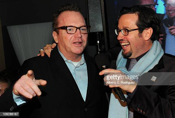 Actor Tom Arnold and President and CEO Audermars Piguet, North America Francois-Henry Bennahmias attend After-School All-Stars Hoops Heroes Salute...