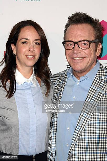 Actor Tom Arnold and wife Ashley Groussman attend the Friendly House LA luncheon held at The Beverly Hilton Hotel on October 25 2014 in Beverly Hills...