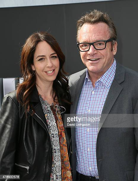 Actor Tom Arnold and wife Ashley Groussman attend the premiere of Paramount Pictures' Terminator Genisys at the Dolby Theatre on June 28 2015 in...