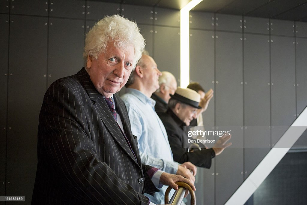 Actor Tom Baker waits with four other previous Doctors from the classic series at the 'Doctor Who 50th Celebration' event in the ExCeL centre on November 22, 2013 in London, England. The sold-out three-day event in the ExCeL London convention centre celebrates 50 years of the show which has seen 11 actors play the role of Doctor Who and receives a worldwide cult following. Tom Baker played the role of the 'Doctor' from 1975 to 1981.