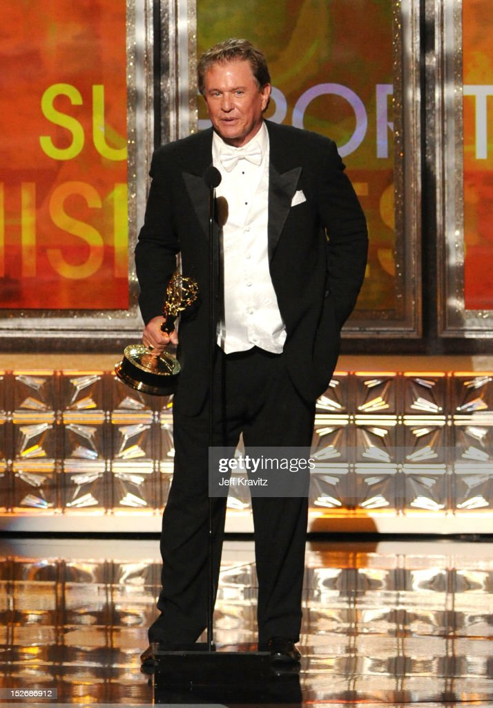Actor Tom Berenger accepts his award onstage during the 64th Primetime Emmy Awards at Nokia Theatre L.A. Live on September 23, 2012 in Los Angeles, California.