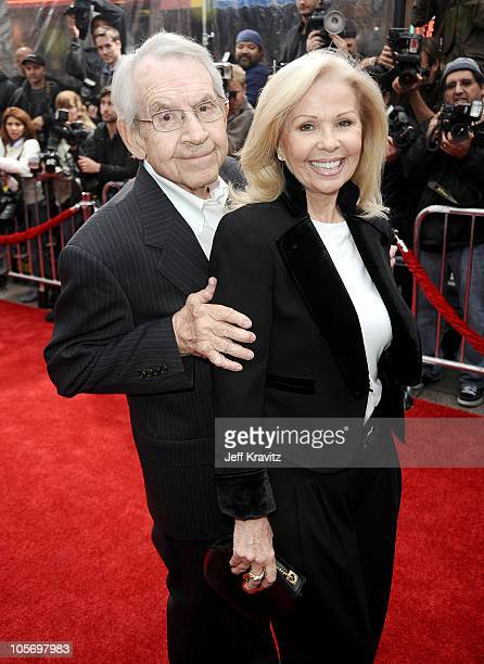 Actor Tom Bosley and actress Patricia Carr arrive at the premiere of The Backup Plan held at Regency Village Theatre on April 21 2010 in Westwood...