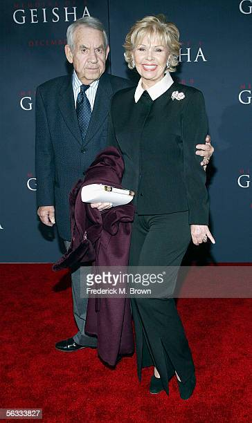Actor Tom Bosley and his wife Patricia Bosley attend the Memoirs of a Geisha film premiere at the Kodak Theatre on December 4 2005 in Hollywood...