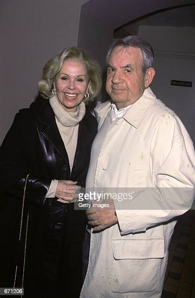 Actor Tom Bosley and his wife Patricia Carr attend the cabaret opening of Neile Adams at the Cinegrill Hollywood Rossevelt Hotel January 10 2001 in...