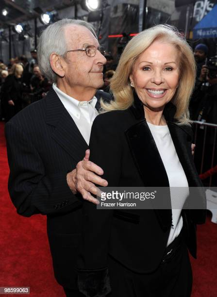 Actor Tom Bosley and wife Patricia Bosley arrive at the premiere of CBS Films' The Backup Plan held at the Regency Village Theatre on April 21 2010...