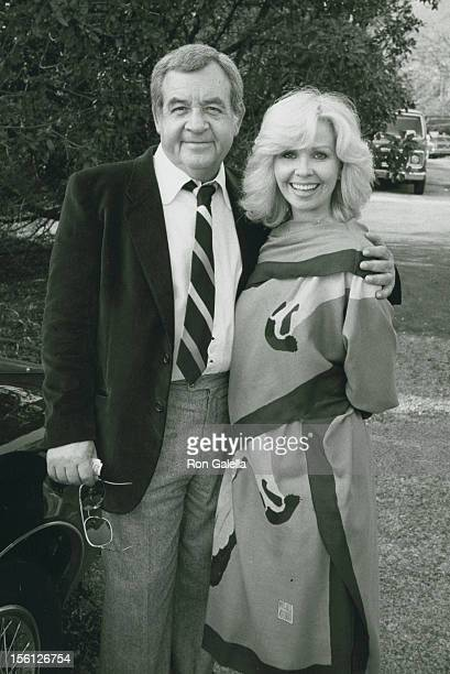 Actor Tom Bosley and wife Patricia Carr attending 'Donny MostMorgan Hart Wedding Reception' on February 21 1982 at Donny Most's home in Malibu...