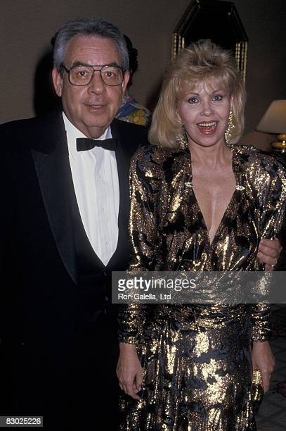 Actor Tom Bosley and wife Patricia Carr attending Friar's Club Gala Honoring Liza Minnelli on April 5 1987 at the Century Plaza Hotel in Century City...