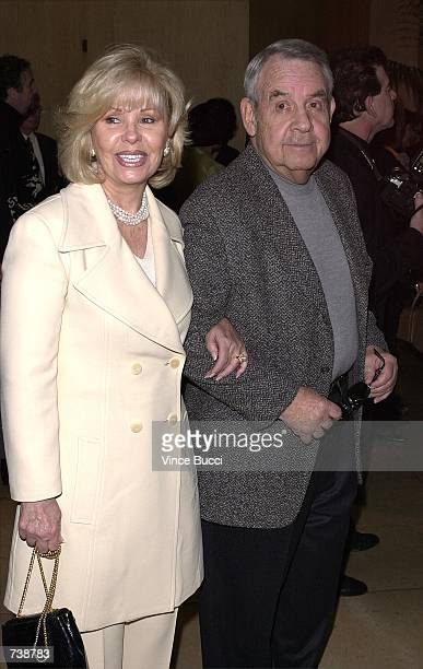 Actor Tom Bosley and wife Patti arrive for the 15th Annual Gypsy Award February 11 2001 in Beverly Hills CA The Professional Dancers Society honored...