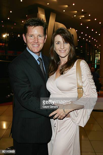 Actor Tom Burlinson and wife Mandy arrives for the opening night of Shout The Legend of the Wild One at the Lyric Theatre on March 6 2008 in Sydney...