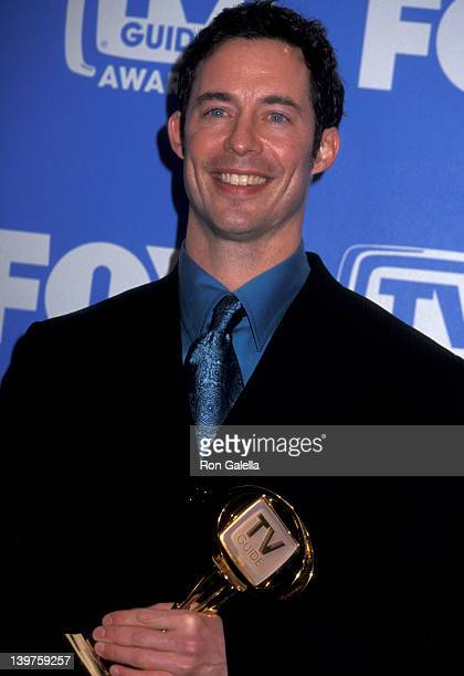 Actor Tom Cavanagh attends Third Annual TV Guide Awards on February 24 2001 at the Shrine Auditorium in Los Angeles California