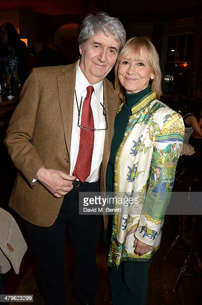 Actor Tom Conti and his wife Kara Wilson attend the press night of 'Two Into One' at Menier Chocolate Factory on March 19 2014 in London England