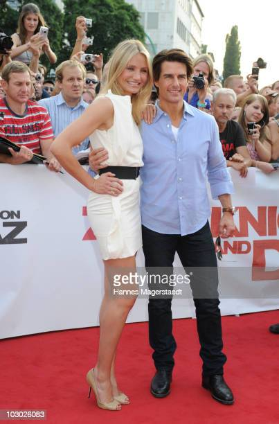 Actor Tom Cruise and actress Cameron Diaz attend the German film premiere of 'Knight And Day' at the Gloria Palast on July 21, 2010 in Munich,...