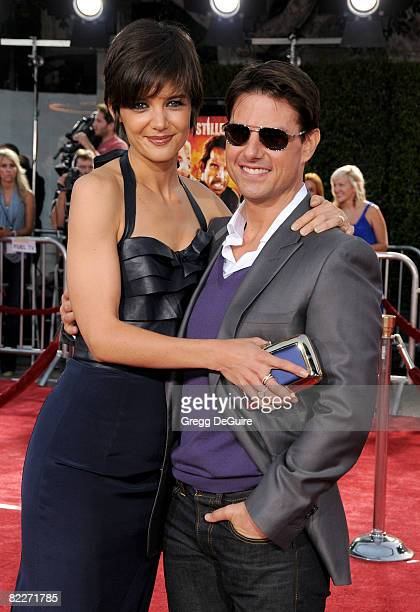 99f46db467c1 Actor Tom Cruise and Actress Katie Holmes arrive at the Los Angeles  Premiere Of  Tropic