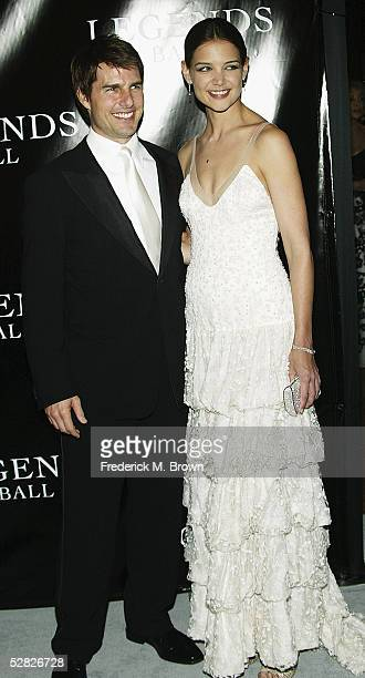 Actor Tom Cruise and actress Katie Holmes attend Oprah Winfrey's Legends Ball at the Bacara Resort and Spa on May 14 2005 in Santa Barbara California