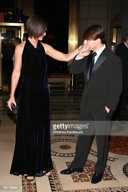 Actor Tom Cruise and actress Katie Holmes attend the 3rd Annual Museum of the Moving Image Black Tie Salute Honoring Tom Cruise at Cipriani's 42nd...