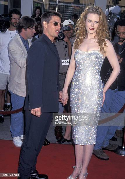 Actor Tom Cruise and actress Nicole Kidman attend the 'Batman Forever' Westwood Premiere on June 9 1995 at Mann Village Theatre in Westwood California