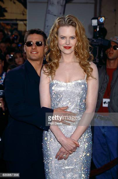 """Actor Tom Cruise and actress Nicole Kidman attend the """"Batman Forever"""" Westwood Premiere on June 9, 1995 at Mann Village Theatre in Westwood,..."""