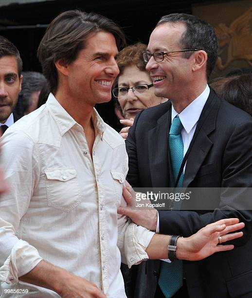 Actor Tom Cruise and CAA talent agent Richard Lovett attend the Handprint And Footprint Ceremony Honoring Producer Jerry Bruckheimer at Grauman's...