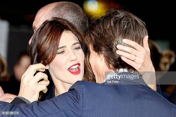 Actor Tom Cruise and canadian actress and model Cobie Smulders attend the 'Jack Reacher: Never Go Back' Berlin Premiere at CineStar Sony Center...