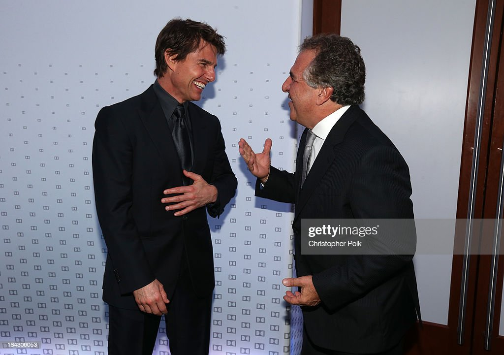 Actor Tom Cruise and Chairman & Chief Executive Officer of Fox Filmed Entertainment Jim Gianopulos attend 'Hugh Jackman... One Night Only' Benefiting MPTF at Dolby Theatre on October 12, 2013 in Hollywood, California.