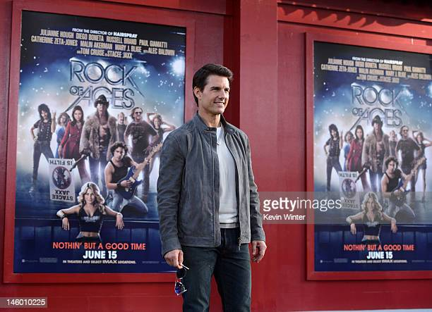 Actor Tom Cruise arrives at the premiere of Warner Bros Pictures' Rock of Ages at Grauman's Chinese Theatre on June 8 2012 in Hollywood California