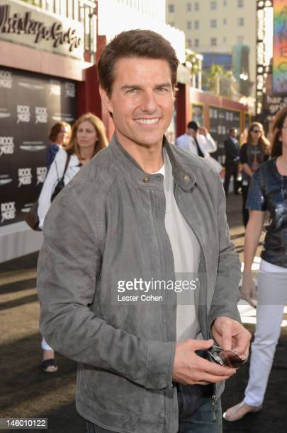 Actor Tom Cruise arrives at the Rock of Ages Los Angeles premiere held at Grauman's Chinese Theatre on June 8 2012 in Hollywood California