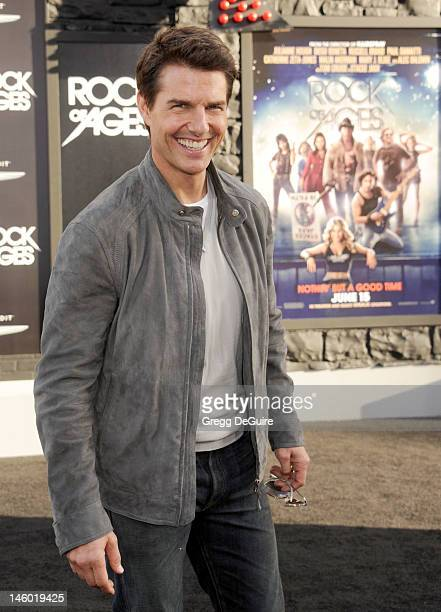 Actor Tom Cruise arrives at the 'Rock of Ages' Los Angeles premiere at Grauman's Chinese Theatre on June 8 2012 in Hollywood California