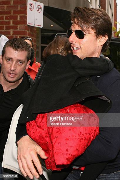 Actor Tom Cruise arrives at the stage production of 'Jersey Boys The Story Of Frankie Valli The Four Seasons' at Princess Theatre on July 5 2009 in...