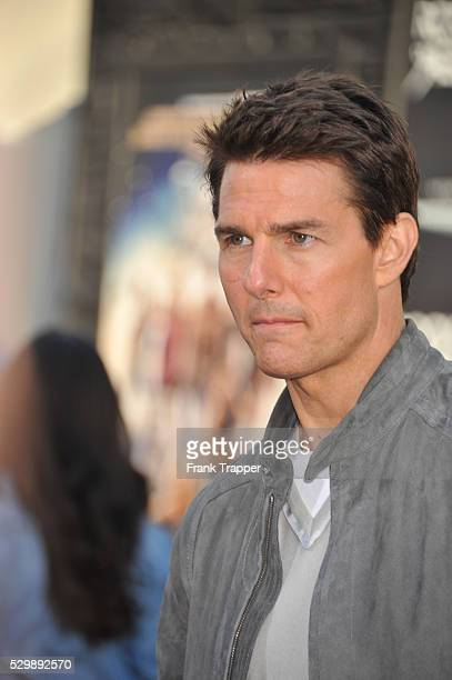 Actor Tom Cruise arrives at the world premiere of Rock of Ages held at Grauman's Chinese Theater in Hollywood