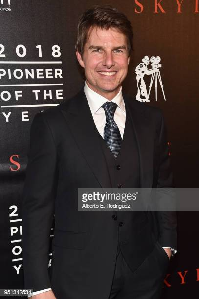 """Actor Tom Cruise attends the 2018 Will Rogers """"Pioneer of the Year"""" Dinner Honoring Tom Cruise at Caesars Palace during CinemaCon the official..."""
