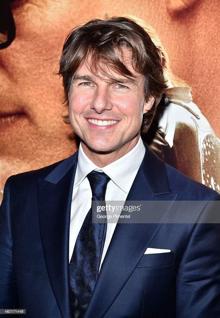 Actor Tom Cruise attends the Canadian Fan Premiere of 'Mission: Impossible - Rogue Nation' at the Cineplex Scotiabank Theatre on July 27, 2015 in Toronto, Canada.