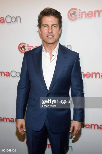 Actor Tom Cruise attends the CinemaCon 2018 Paramount Pictures Presentation Highlighting Its Summer of 2018 and Beyond at The Colosseum at Caesars...
